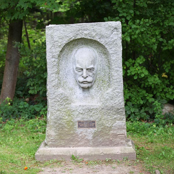 Headstone with Creepy Face