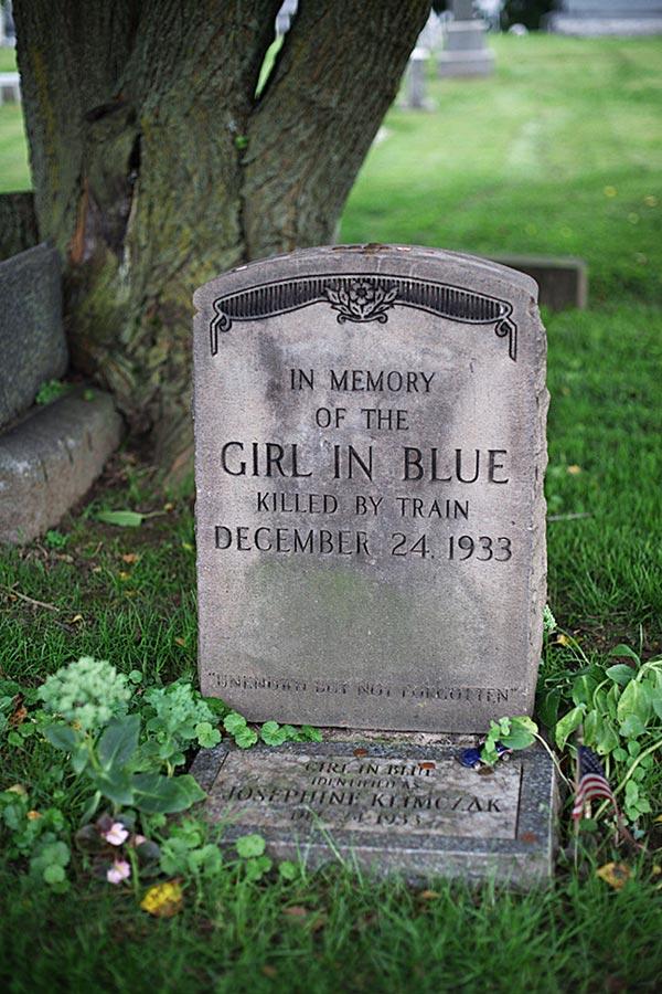 Girl in Blue Headstone - Josephine Klimczak