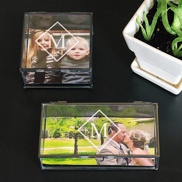 Glass Photo Memory Box