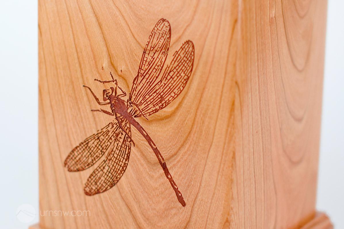 Detail of dragonfly memorial art