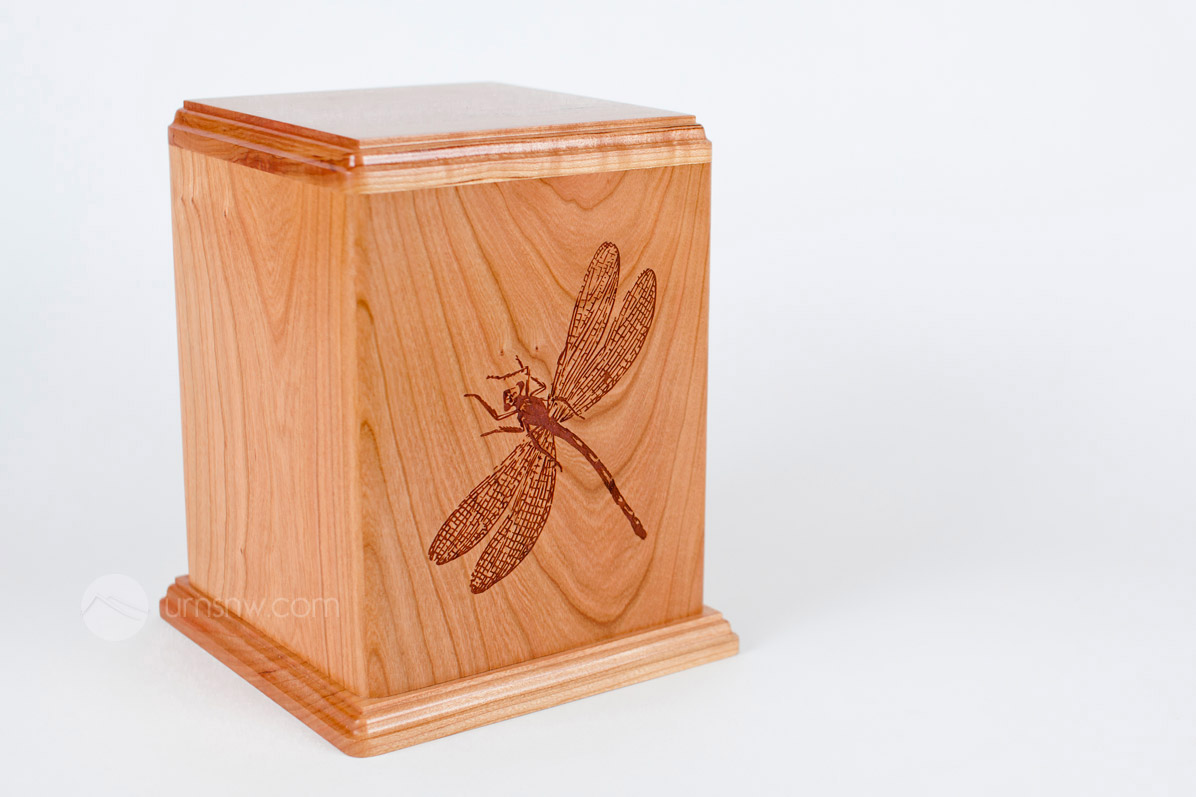 Cherry Wood Funeral Urns