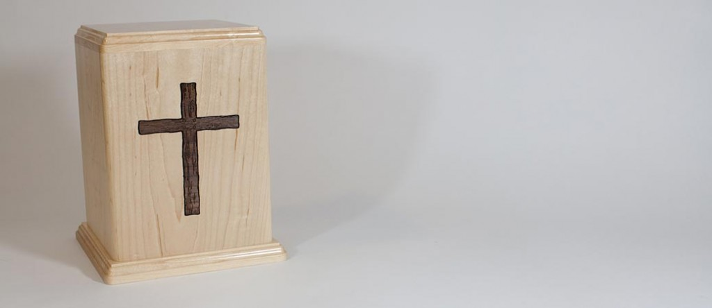 Maple Wood Cross Urn