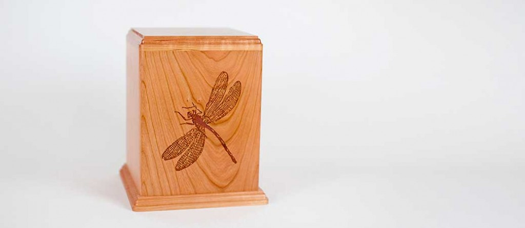 Dragonfly urn with video