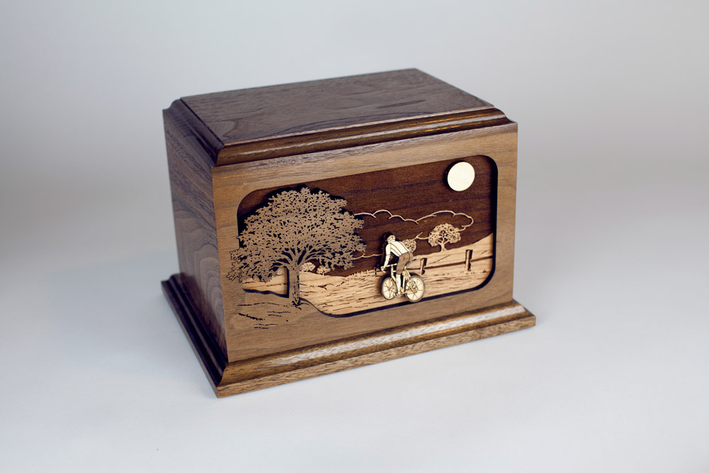Cycling Cremation Urn