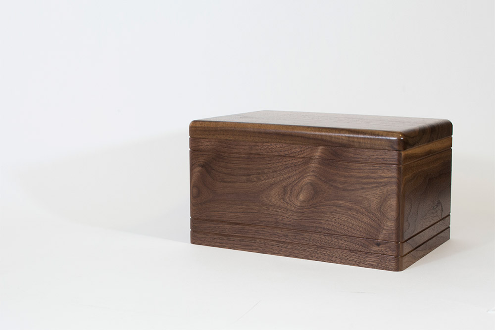 Gorgeous Walnut Wood Cremation Urn