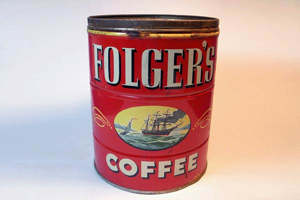 Coffee Can for Scattering Ashes