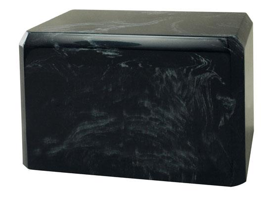 Black Cultured Marble Cremation Urn