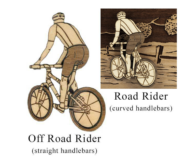 Choose Road or Off-Road Rider for the Cyclist