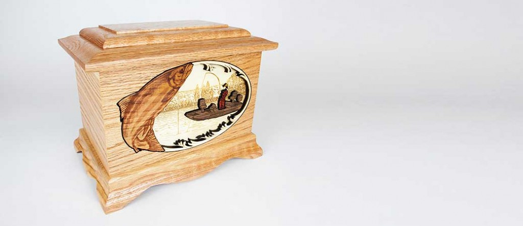 Oak Wood Cremation Urn made in the Pacific Northwest