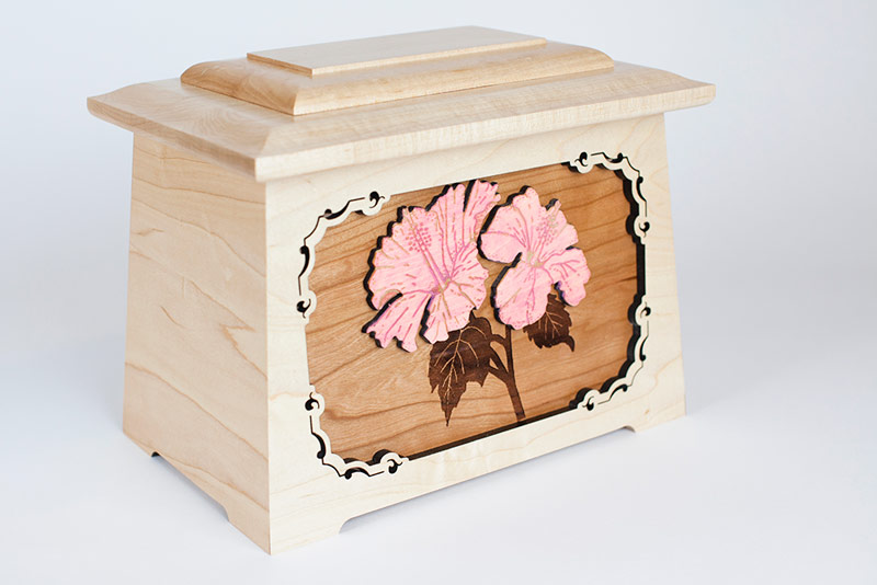 Cremation Urns with Flowers