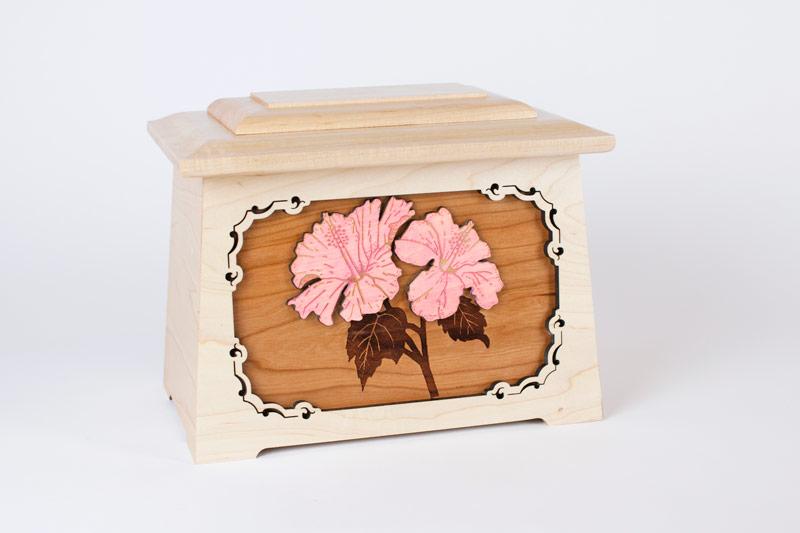 Wood art urn