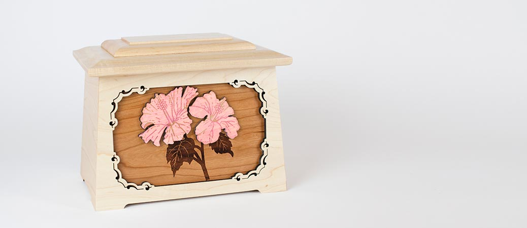 Memorial Urns - Hibiscus Flower