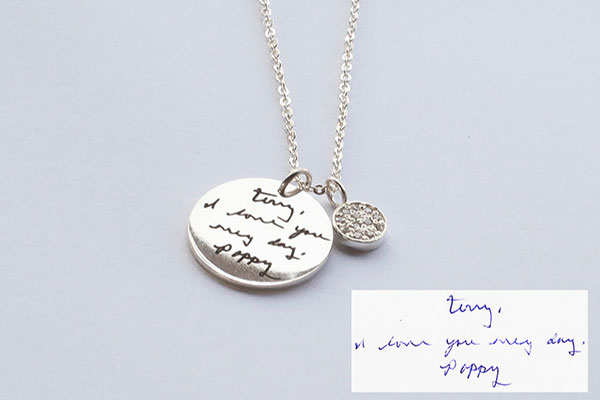 Custom Made Memorial Note Necklace