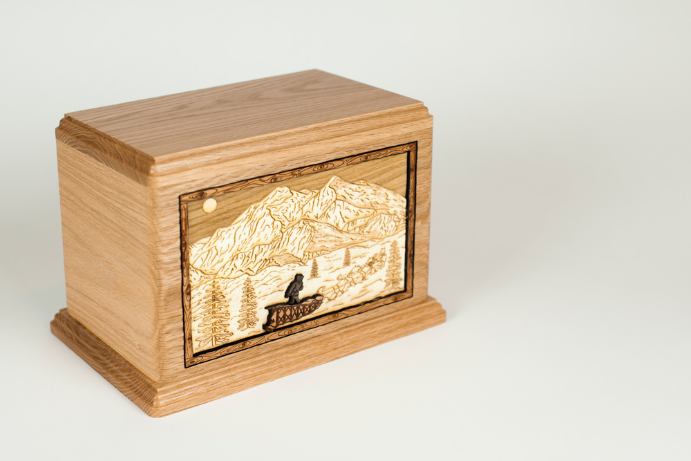 Alaskan Dog Sled Cremation Urn