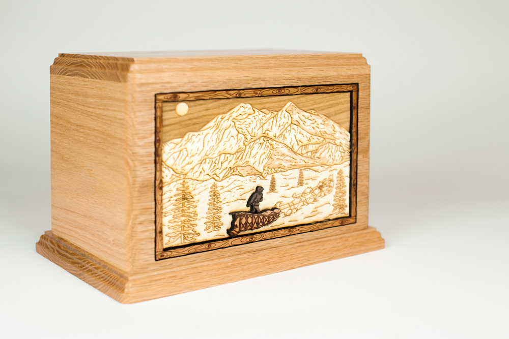 Oak Wood Urn