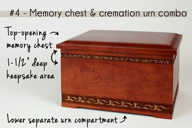 Combination Urn and Memory Chest