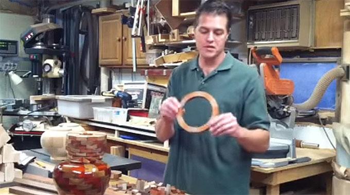 Hand turned wood urn production