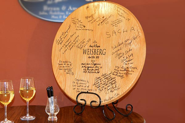Signature Barrel Head Memorial Guest Book