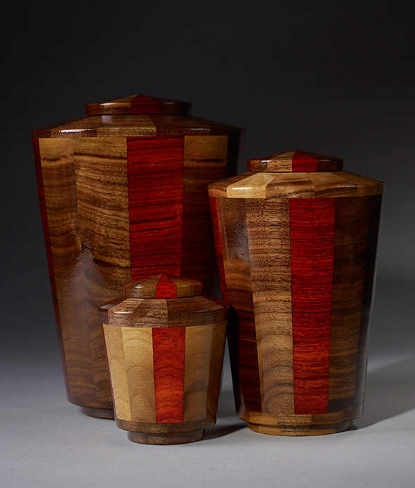 Hand Turned Wood Cremation Urn