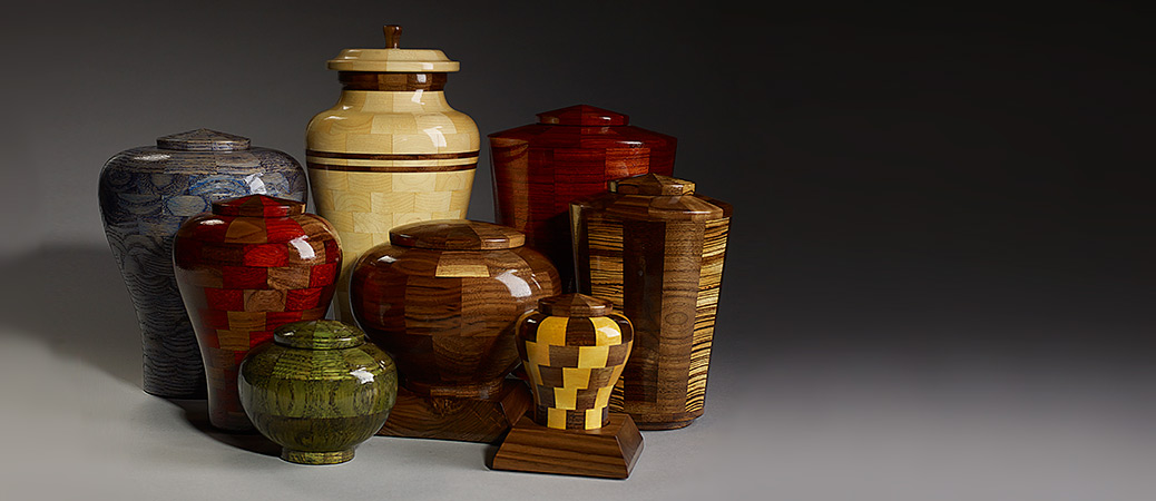 Artisan Crafted Wood Urns