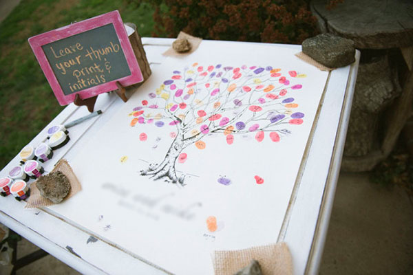 Thumbprint Memorial Guest Book