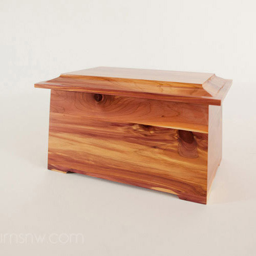 Beautiful wood cremation urns