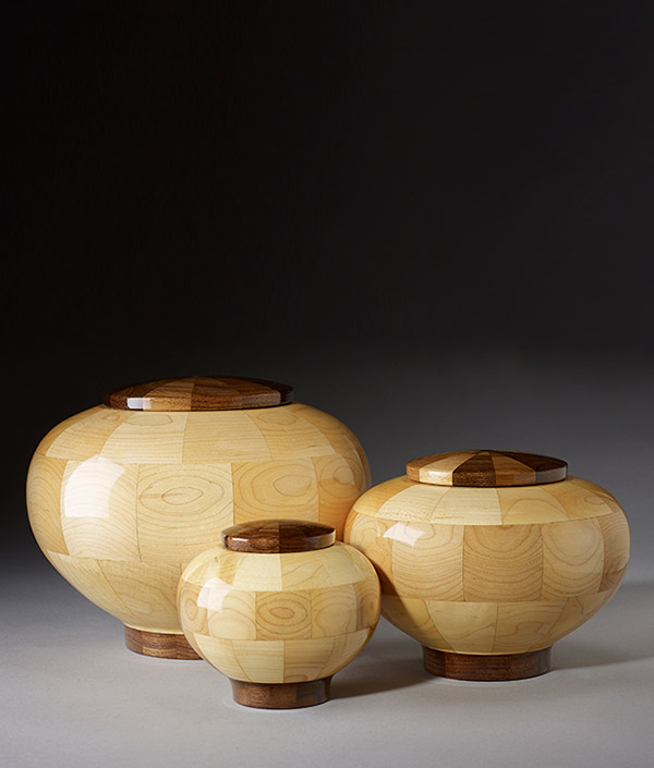 Hand Turned Wood Cremation Urns