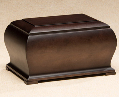 Wood Cremation Urn with Espresso Finish