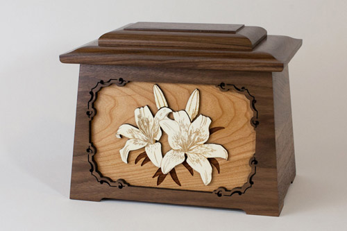 Floral Art Inlay Memorial