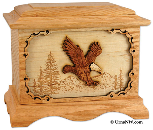 Eagle Inlay Art Cremation Urn