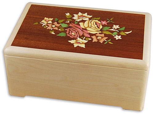 Marquetry Floral Art Inlay Memorial