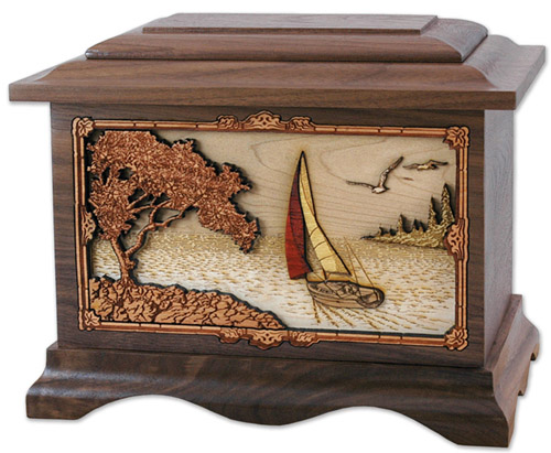 Soft Breezes Sailing Memorial Urn