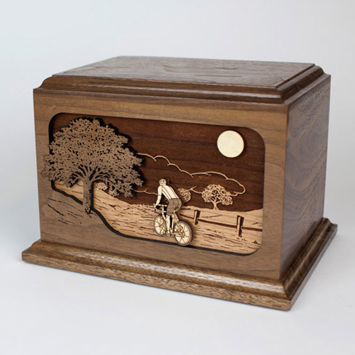 Cremation Urn with Bicycle