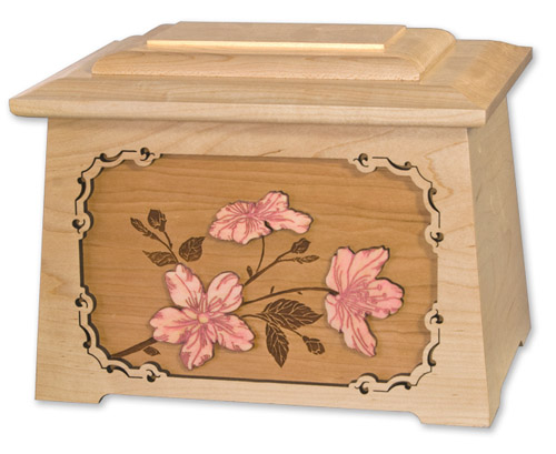 Floral Art Inlay Urn
