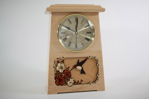 Clock Urn with Inlay Art