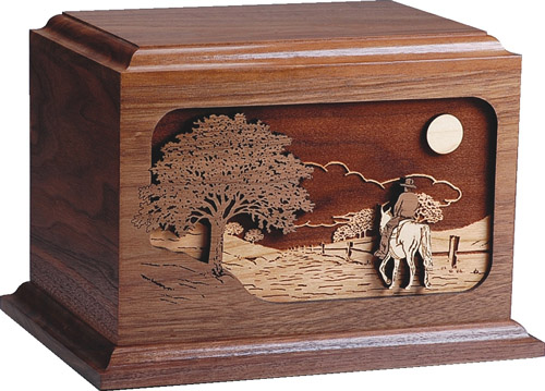 Walnut Wood Funeral Urn