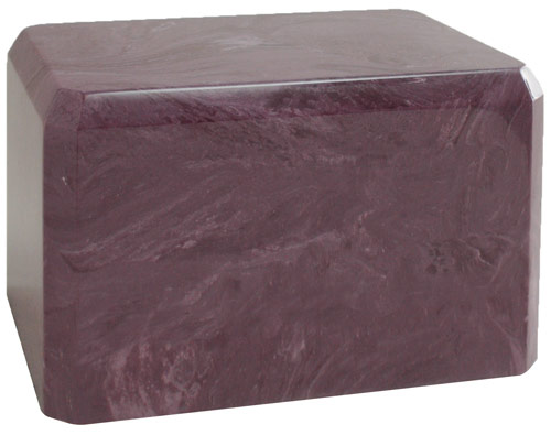 Red Wine Cultured Marble Urn