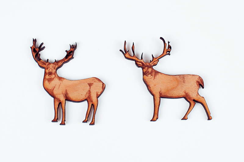 Deer options for inlay wood art