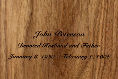 Personalized Cremation Urn with Engraving