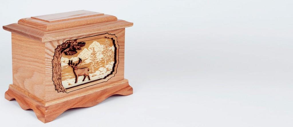Oak Wood Cremation Urn