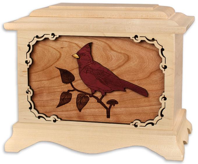 Engraved Wooden Cremation Urns