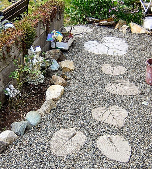 Garden Stepping Stones from Loved One's Ashes