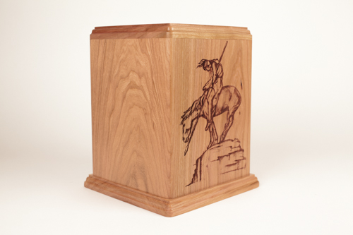 Personalized Urns: Cherry Wood