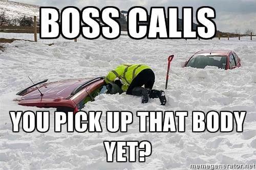 Mortician's boss call