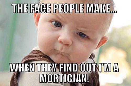 A mortician's job