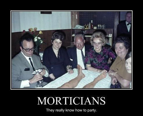 Morticians know how to party