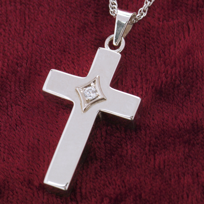 Cross Cremation Jewelry Necklace