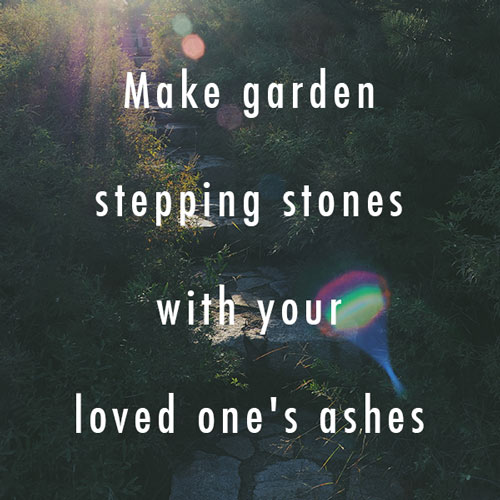 DIY Memorial Garden Stones with Ashes