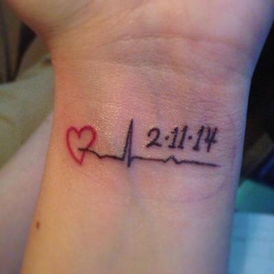 The last heartbeat tattoo