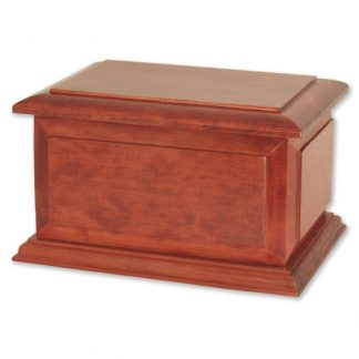 Memorial Urn in Cherry Wood